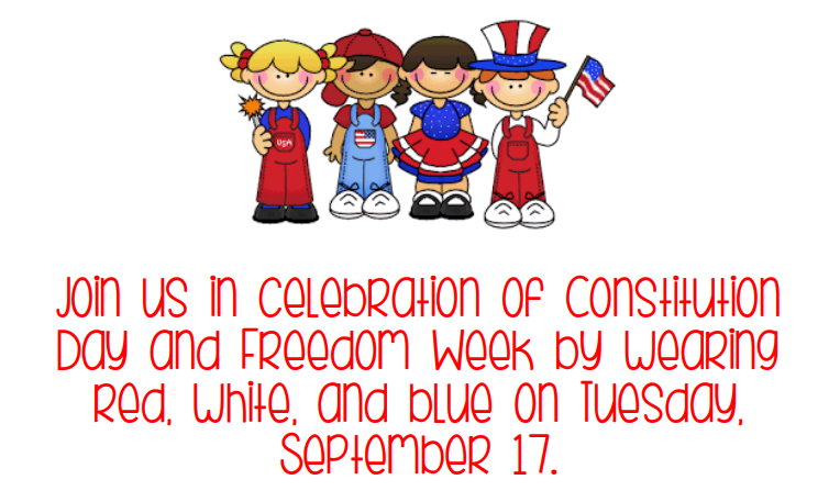 Dress Up for Constitution Day on Tuesday! Thumbnail Image