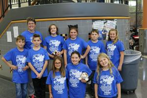 Shown in the picture is our lego league team.