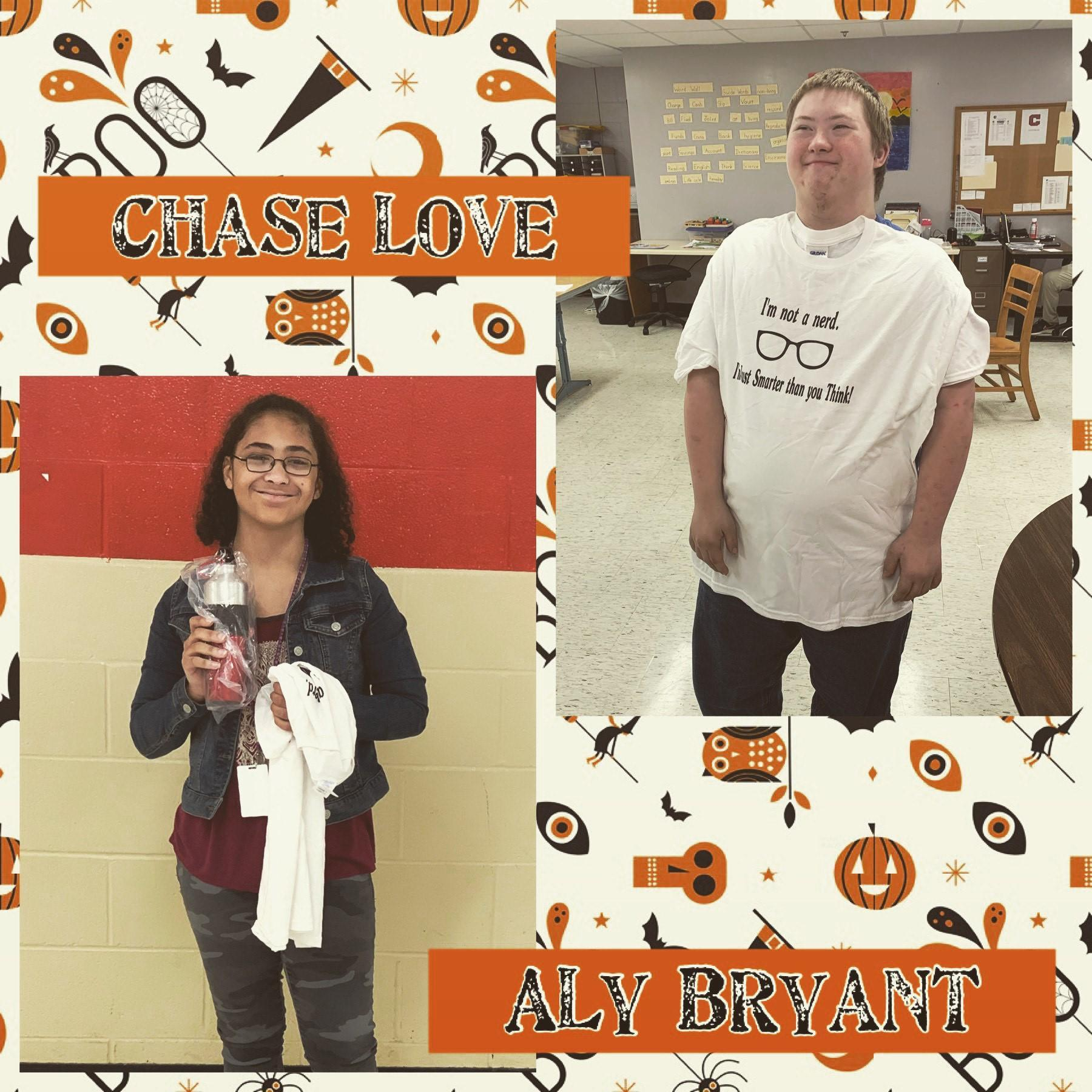 Congratulations to our students of the week! Each week we highlight two students who are actively co