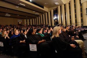 Seated graduates