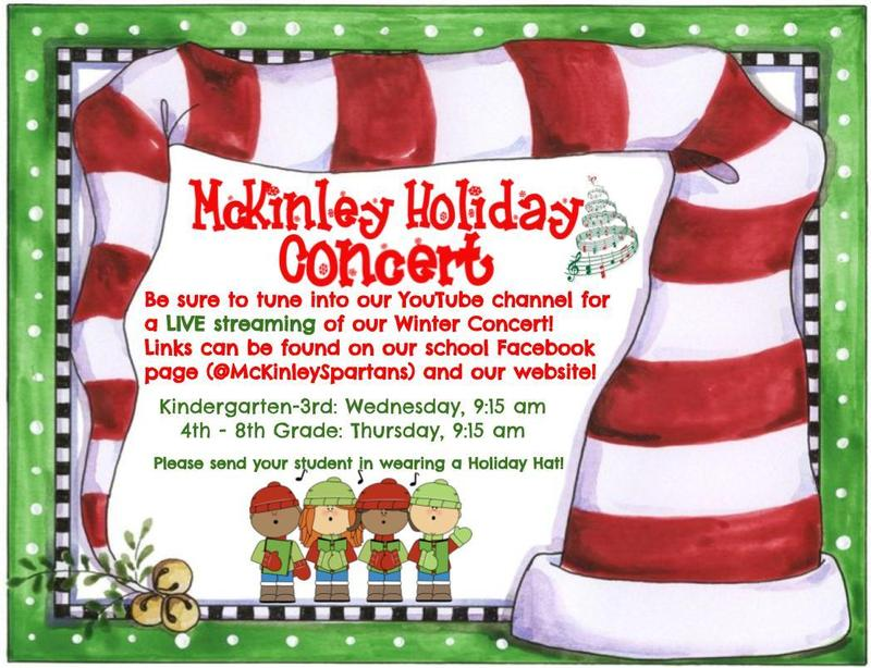 Winter Concert Live Stream Flyer