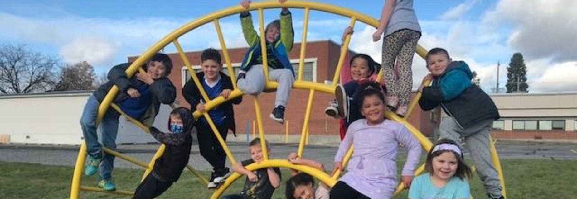 Kids outside at recess