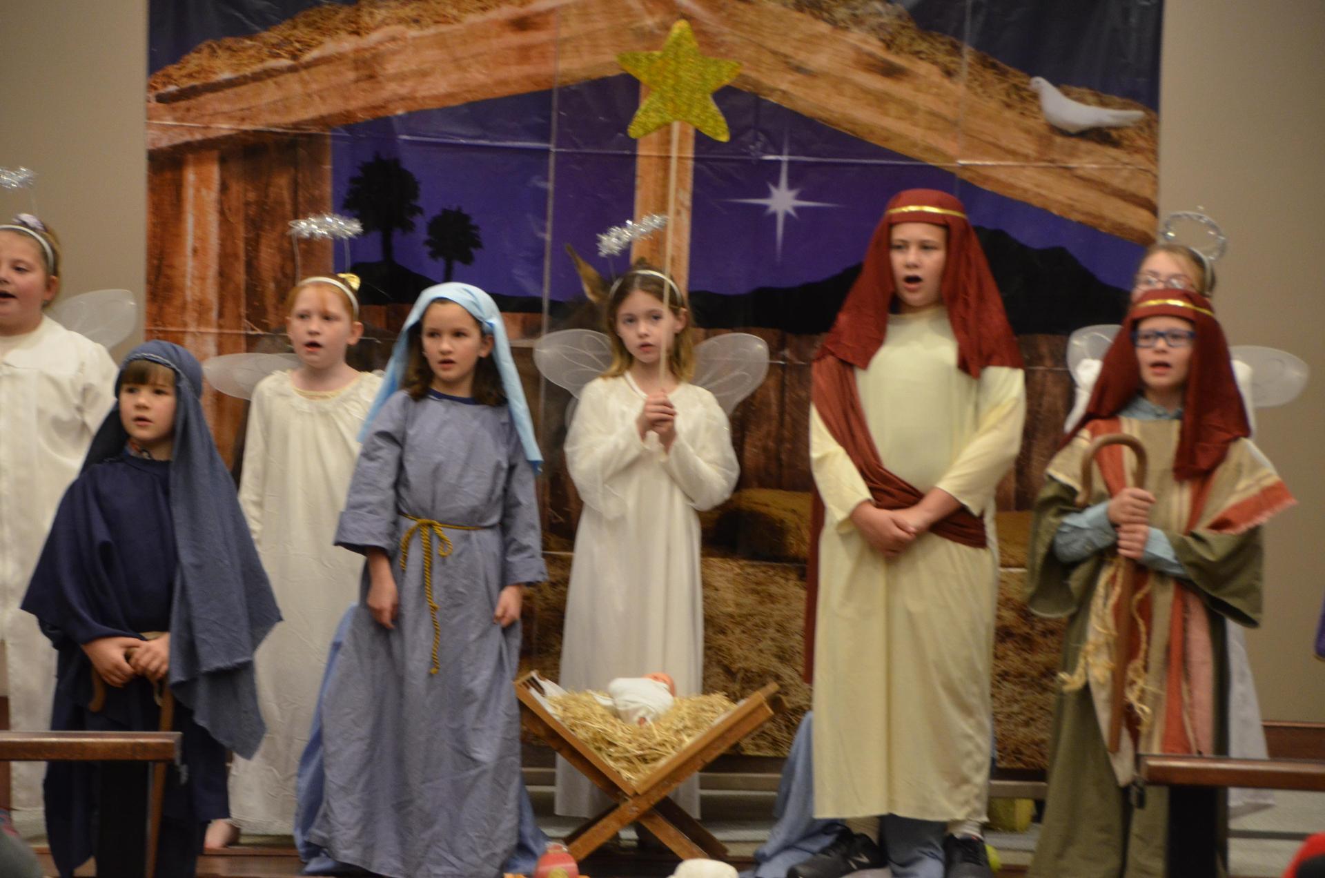 children's nativity scene