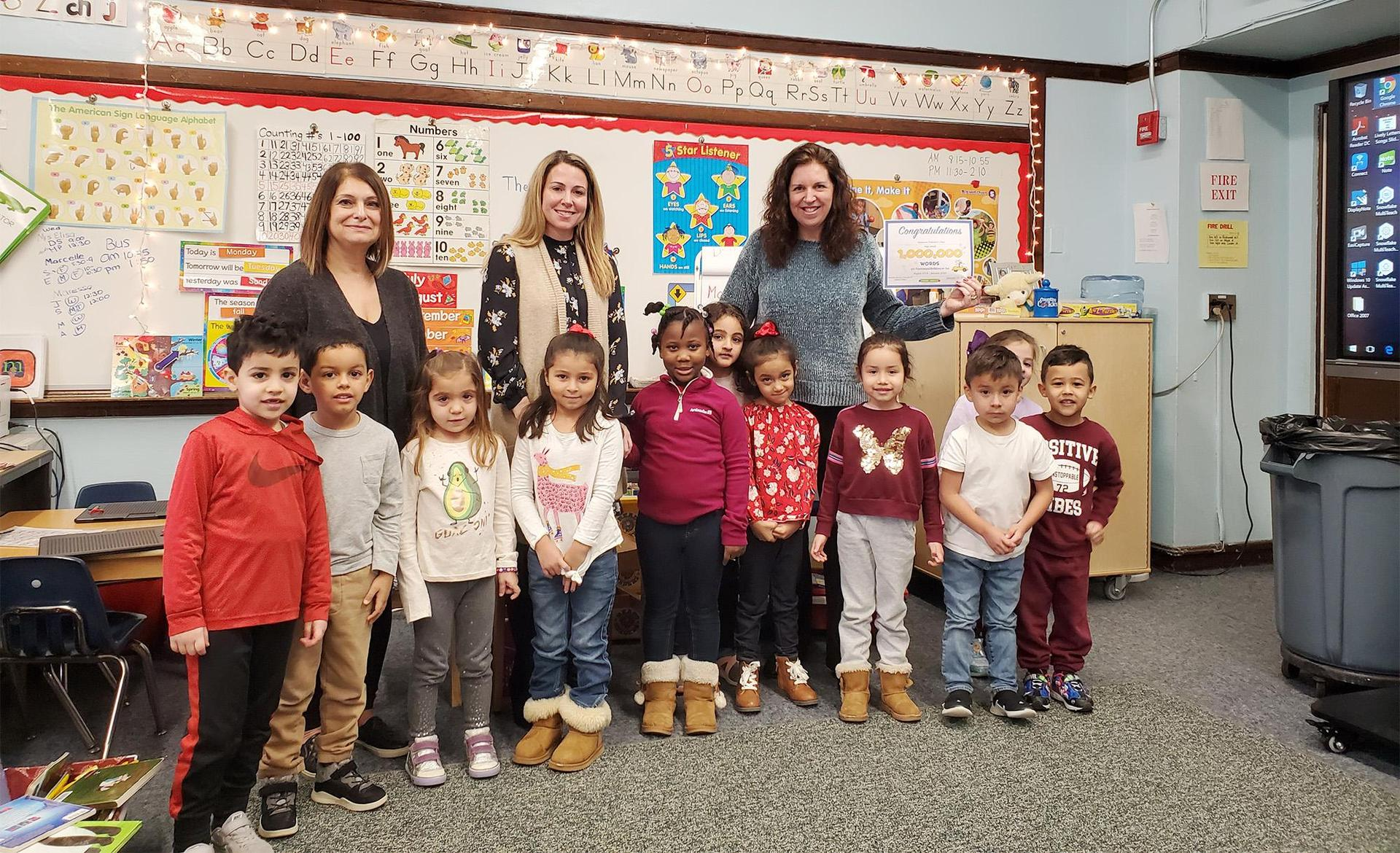 Pre-K students and educators
