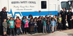 Kindergarten class with Sequoia Safety Council