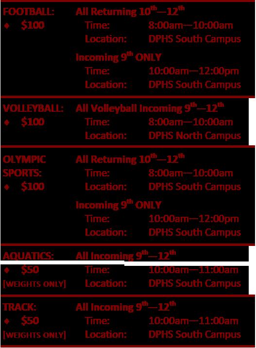 STP Schedule High School