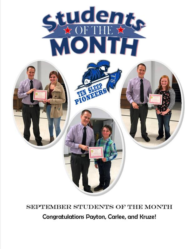September Students of the Month Thumbnail Image