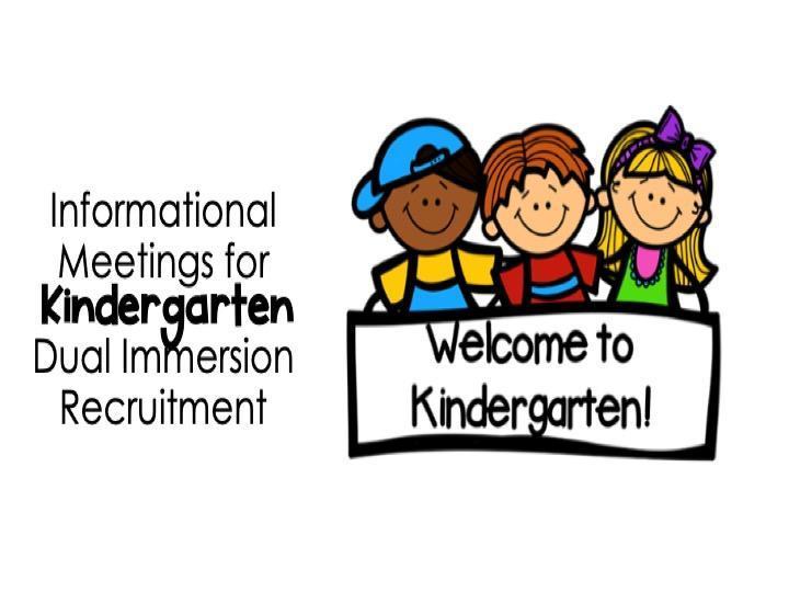 Kindergarten DI Enrollment Informational Meetings Dates Featured Photo