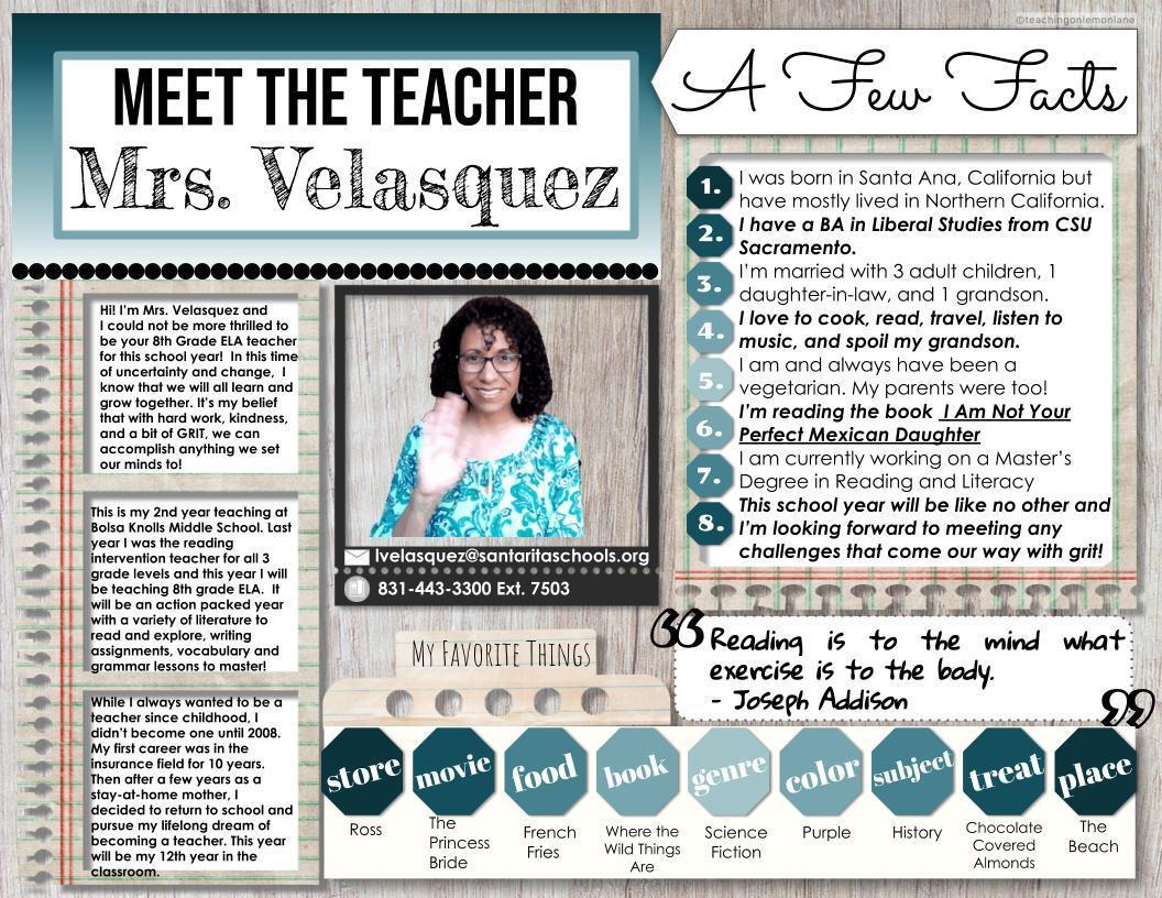 Meet Mrs. Velasquez