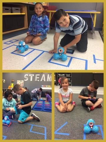 students using dash robots