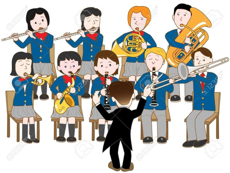 Picture of kids in a school band class