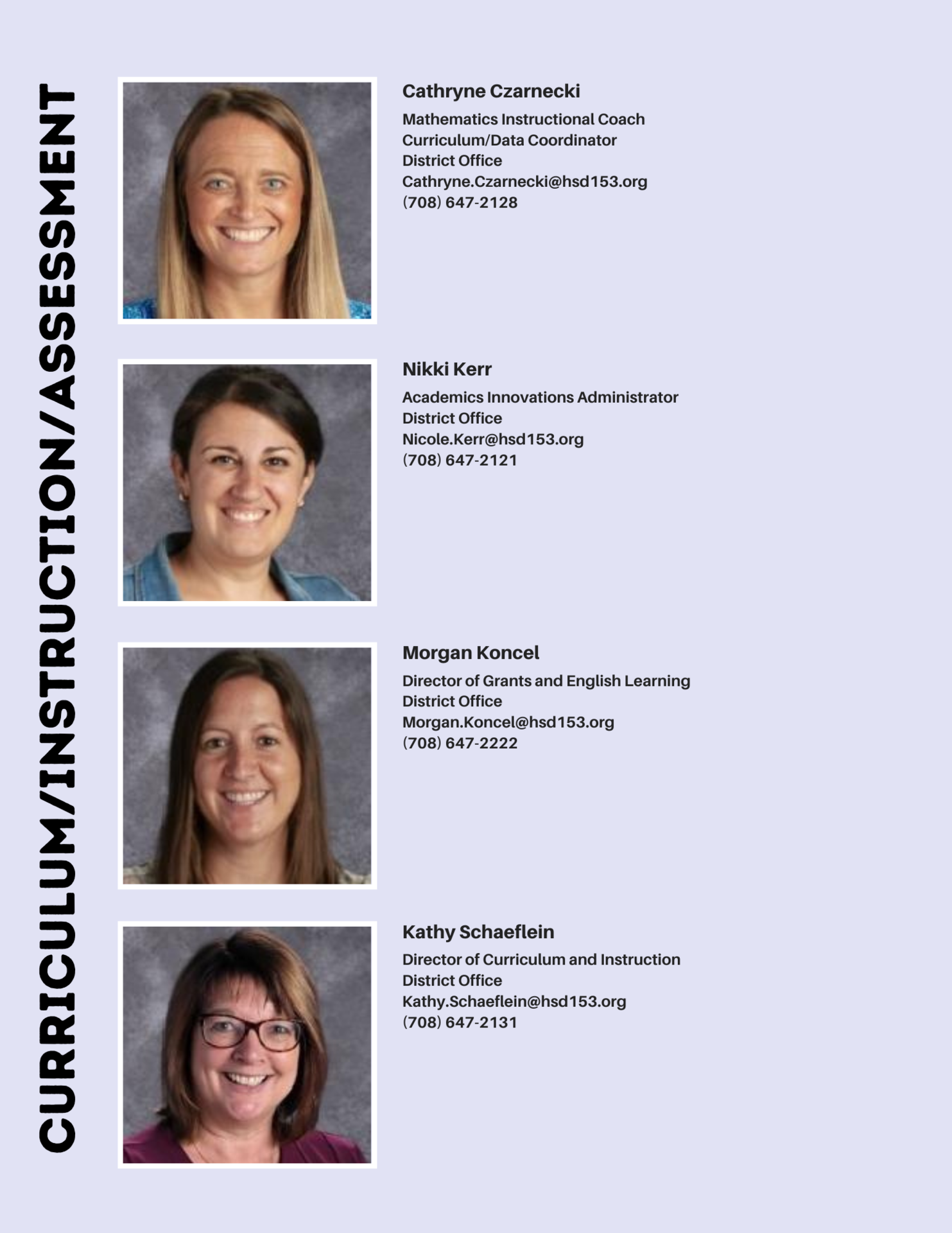 Curriculum and Instruction Staff