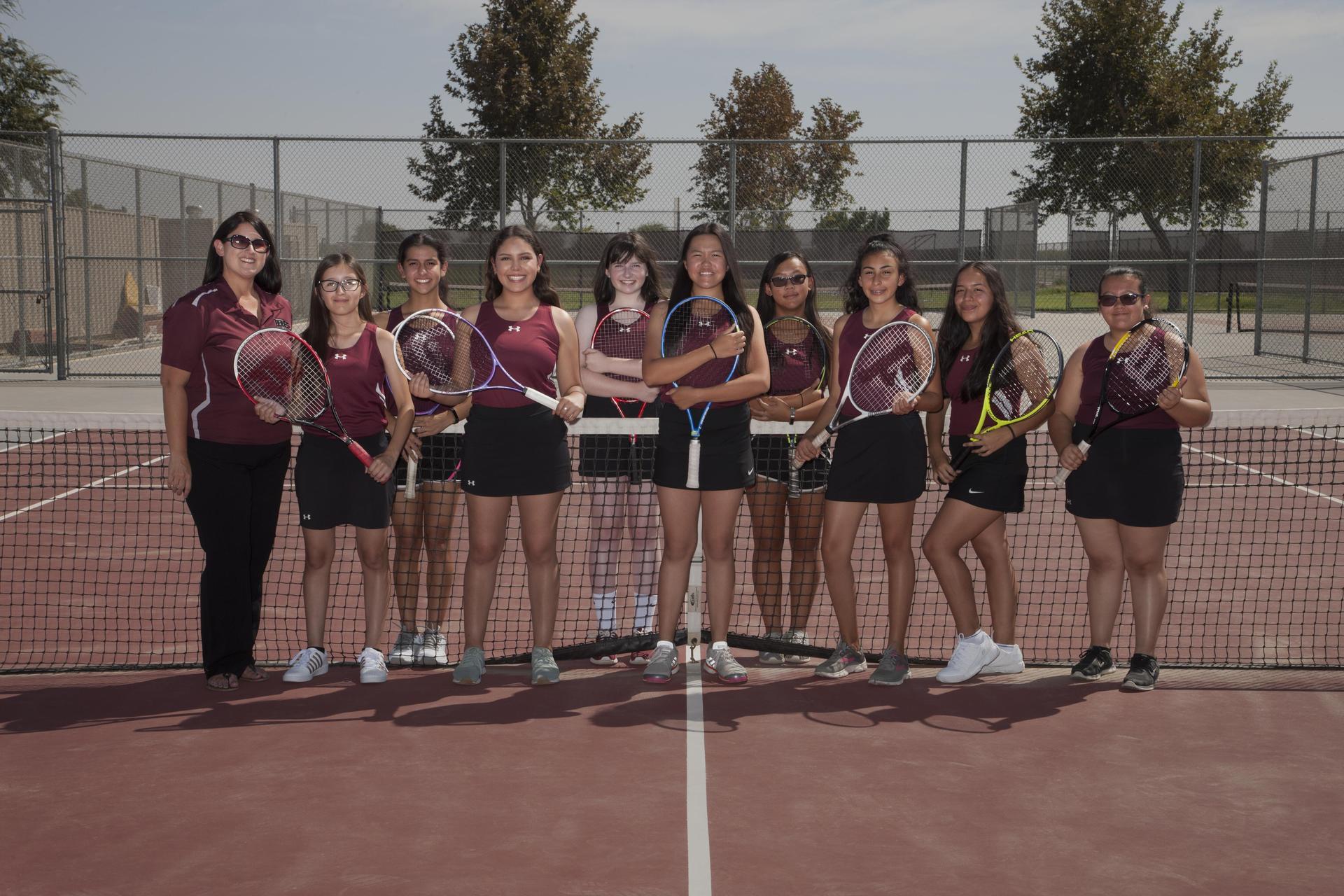 JV Girls Tennis 2018