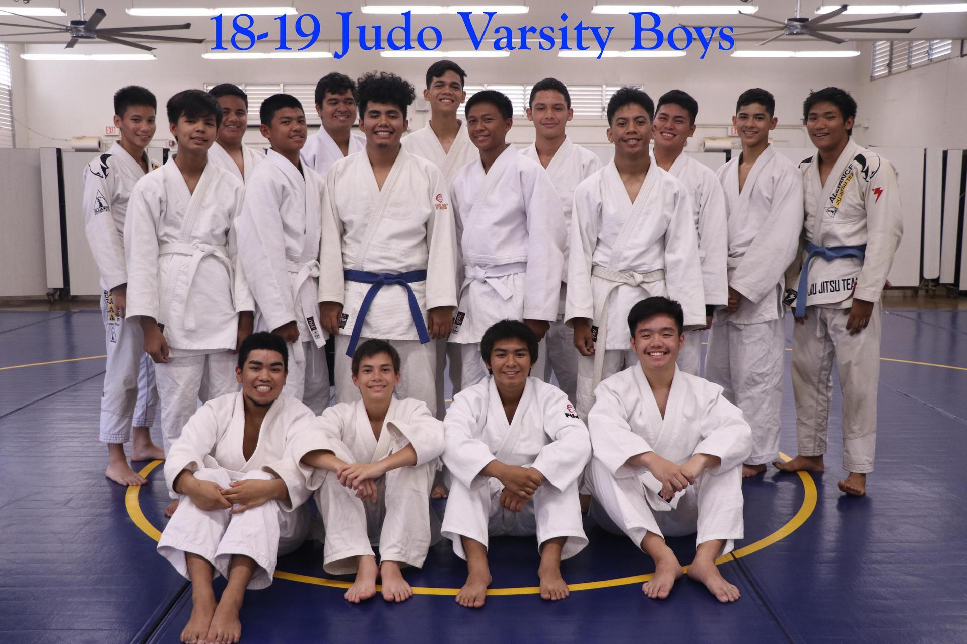 Judo Varsity Boys
