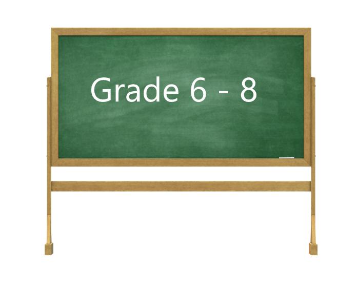 Grade 6 - 8