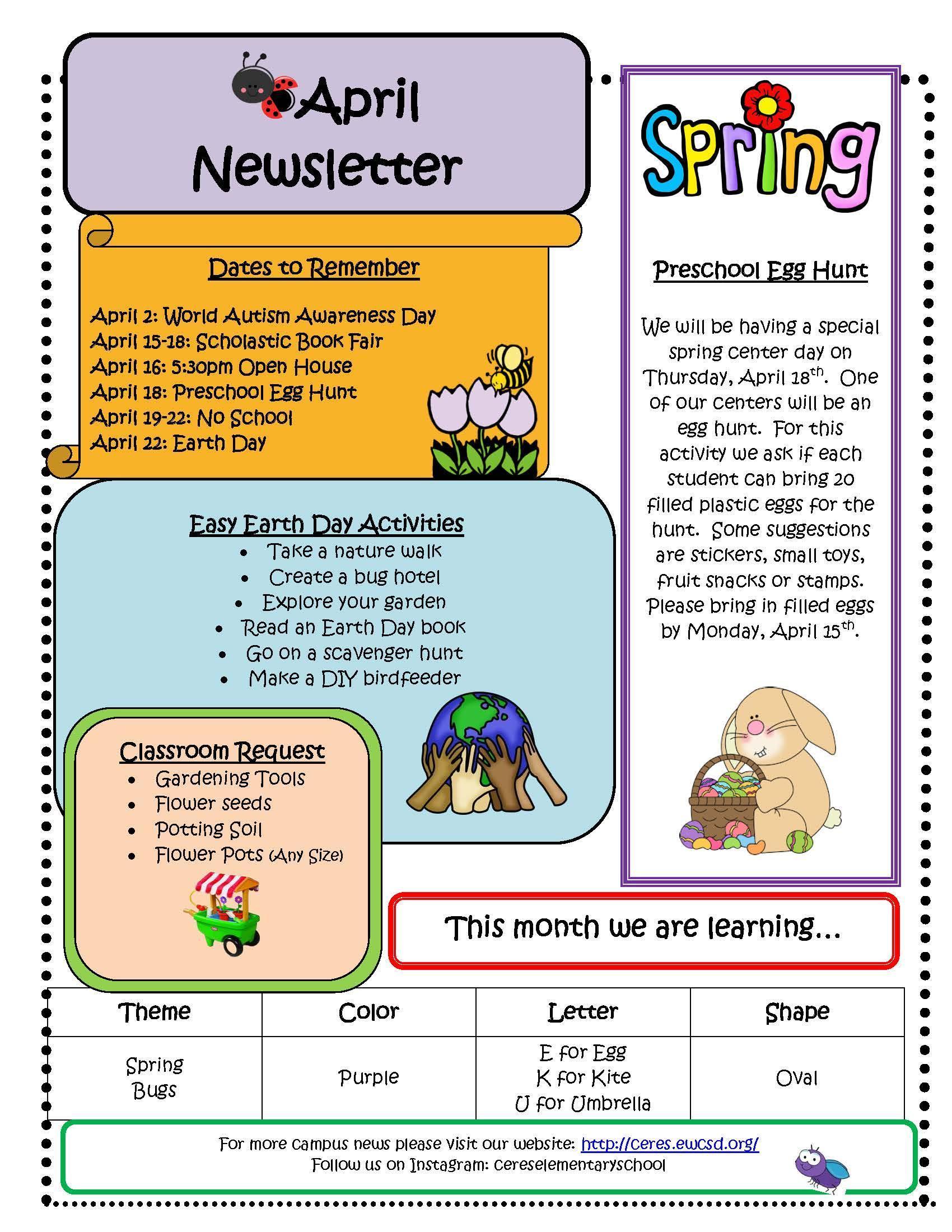 Newsletter-April