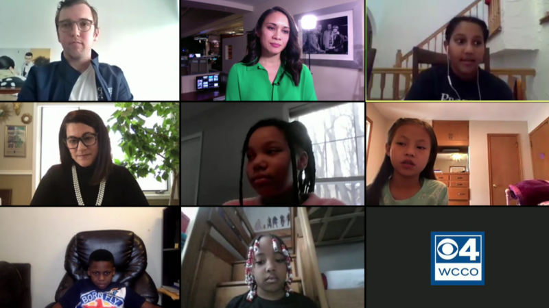 Zoom grid of Prodeo Scholars and teacher