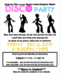 Disco Party Andrews Event flyer