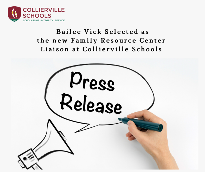 Bailee Vick Selected as the new Family Resource Center Liaison at Collierville Schools Featured Photo