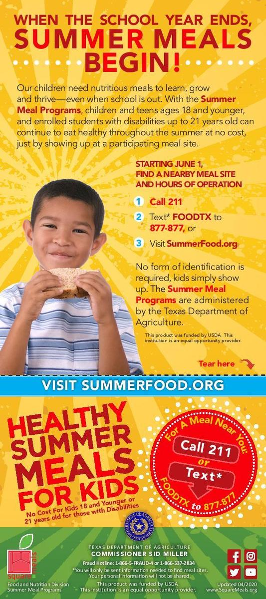 summer meal flyer-english