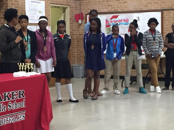 Baker Middle Athletic Awards - Students in Photo