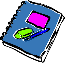 Clip art of journal and pen