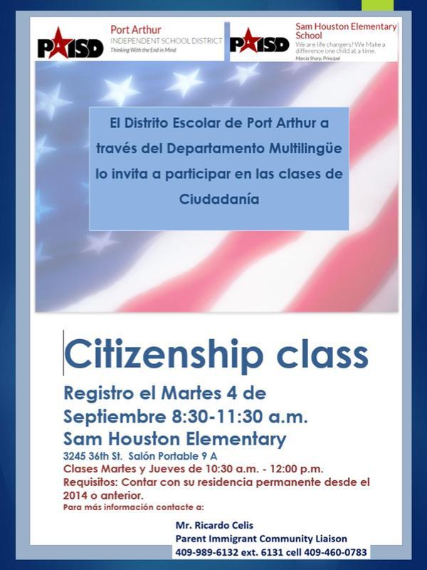 Citizenship Class Info