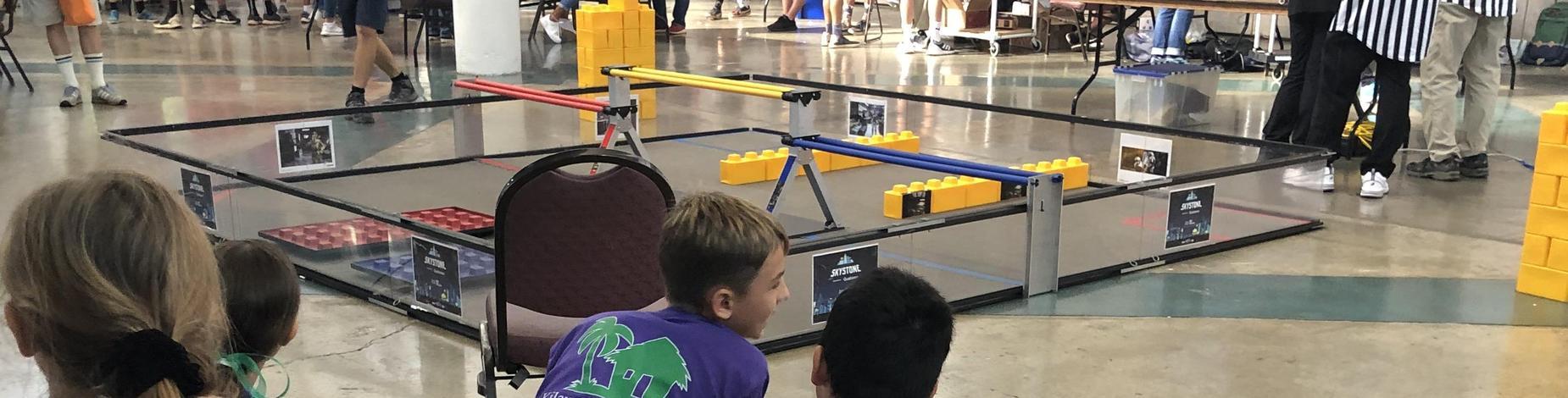 High School robot mat awaiting the bots!