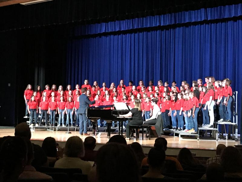 The 2019 Davidson All-County Elementary Choir