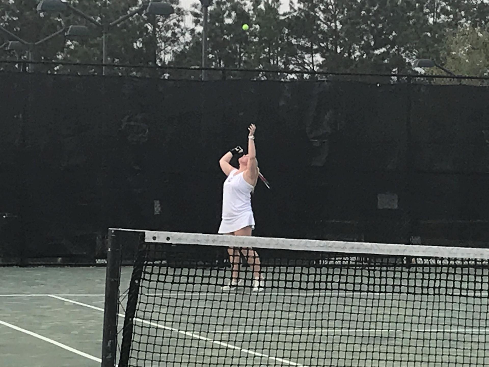 CHS Girls Tennis Action Shot