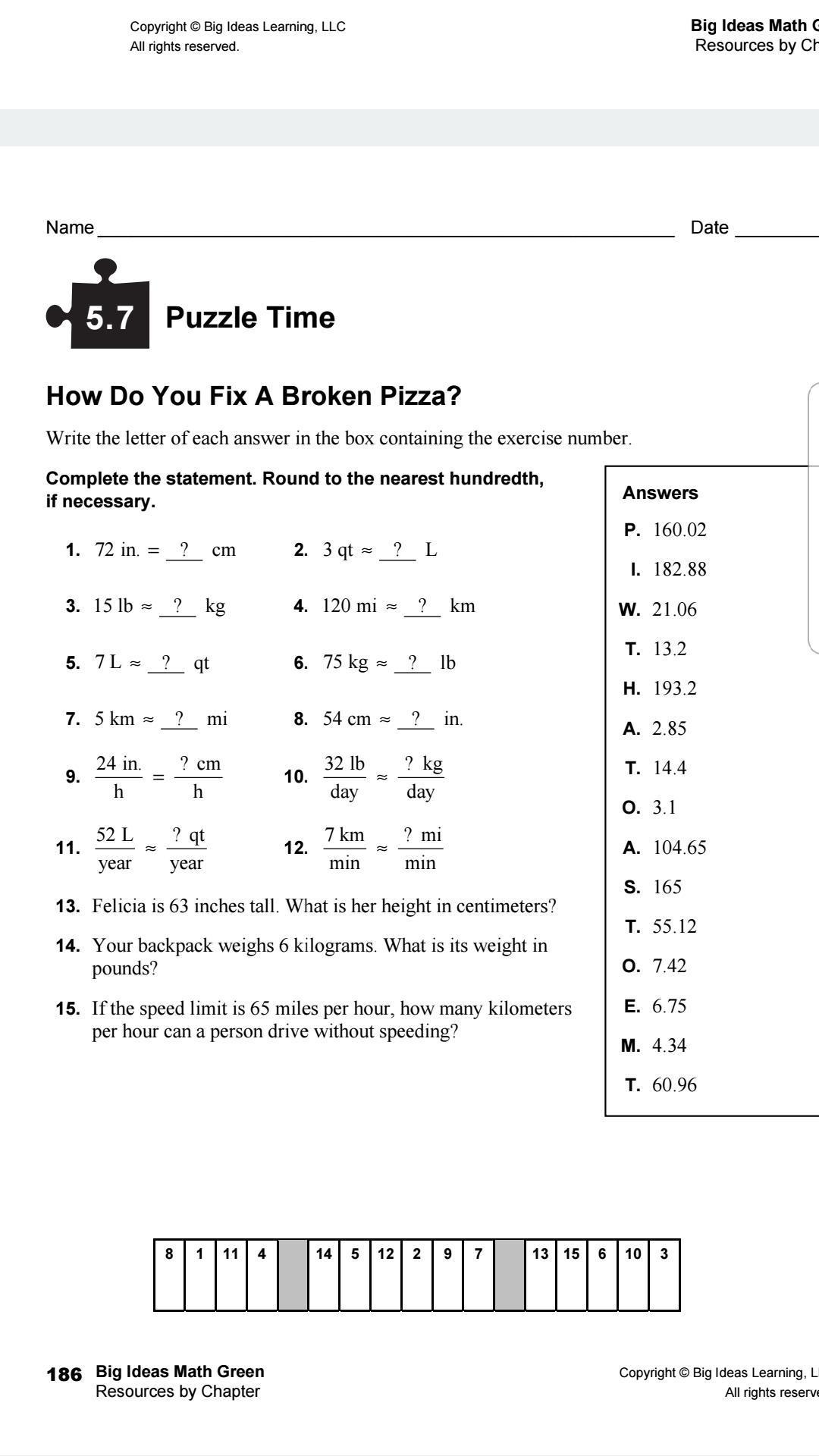Smart Idea Big Ideas Math Green 6th Grade [ 1920 x 1080 Pixel ]