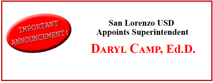 San Lorenzo USD Appoints Superintendent Featured Photo