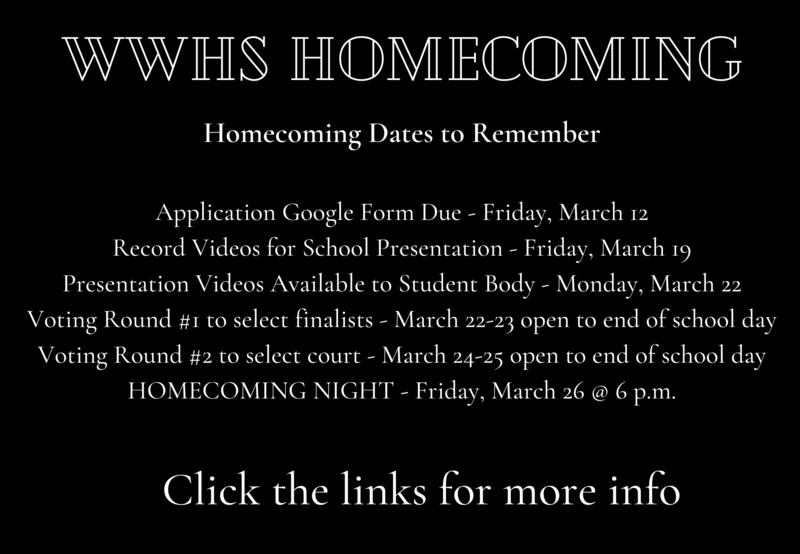 Homecoming Court Information Thumbnail Image