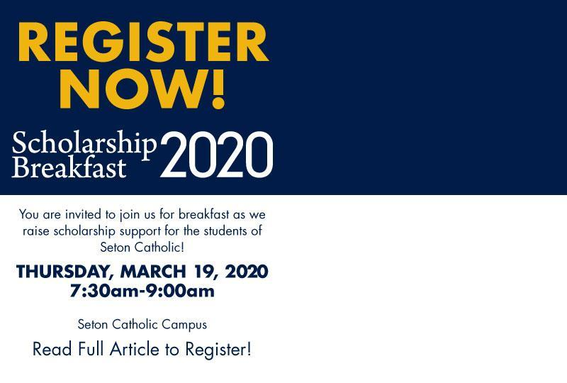 Registration is now open for the 2020 Scholarship Breakfast! Featured Photo