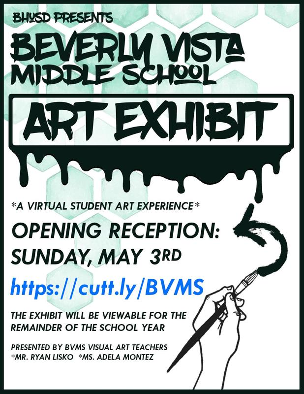 First Ever BVMS Art Exhibit Opening Sunday May 3rd! Featured Photo