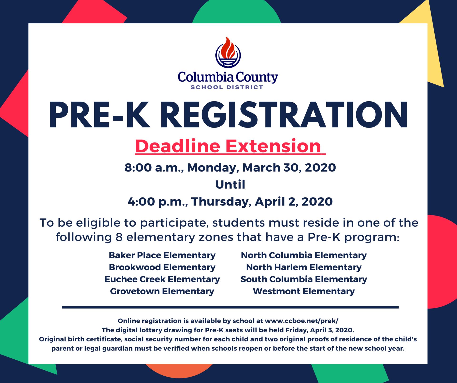 prek registration extension graphic