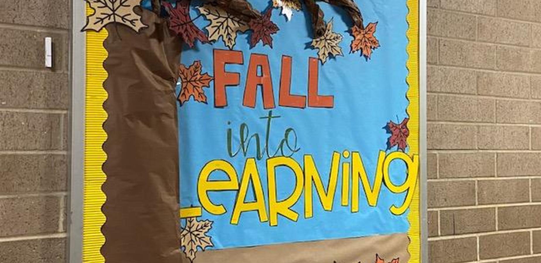 Fall into Learning Bulletin Board