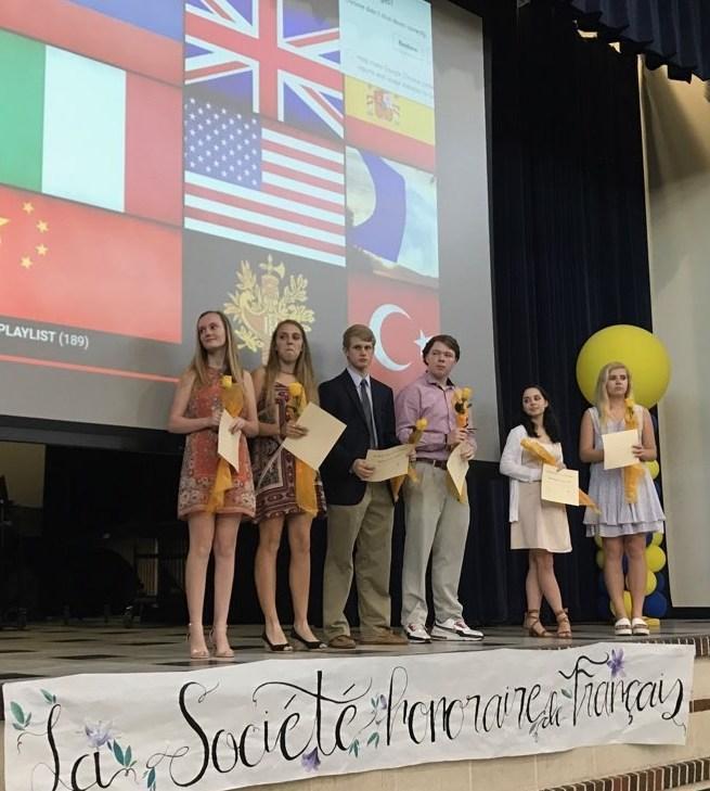 La Société honoraire de français awards ceremony.
