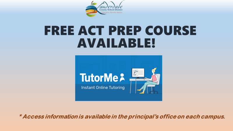 LCSD Free ACT Prep Course Graphic
