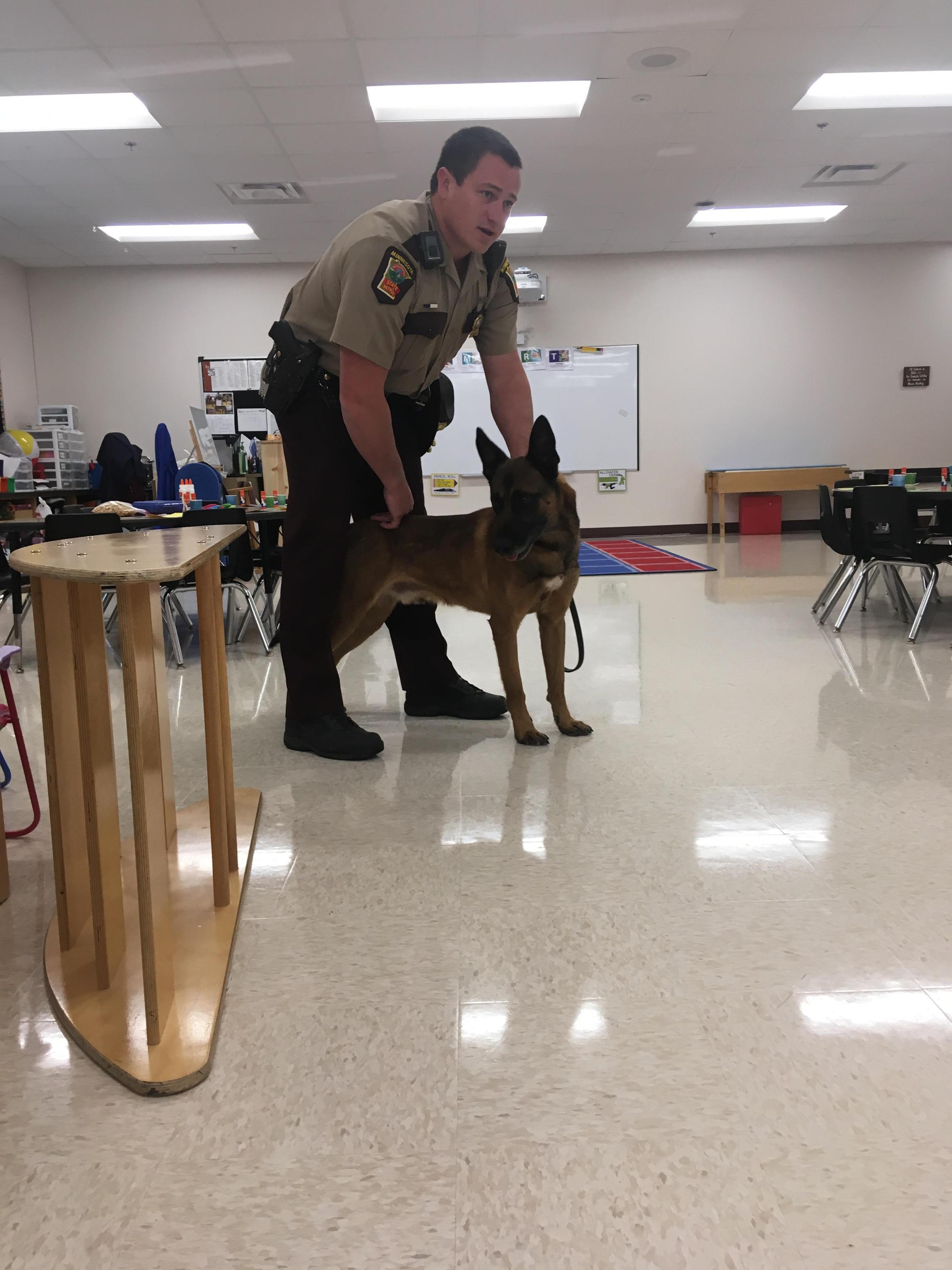 State Trooper visit