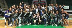 Lady Bears Attend College Basketball Game, Visit with Players