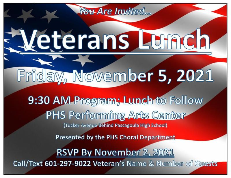 Veterans Lunch announcement