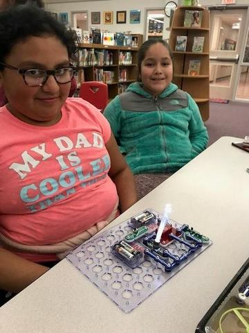 Makerspace fun in the library!