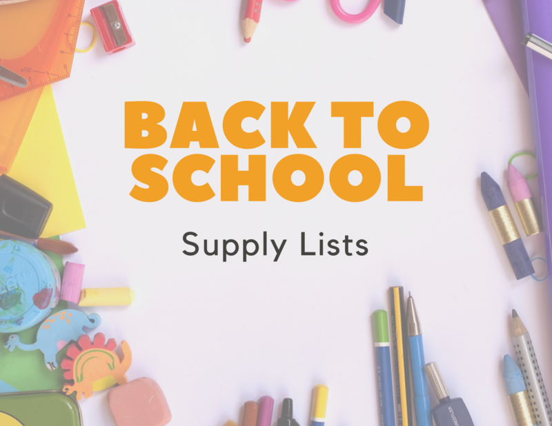 Back to school supply lists.