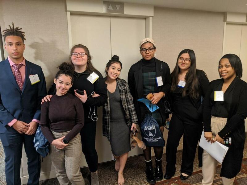 Students at Harvard Model Congress