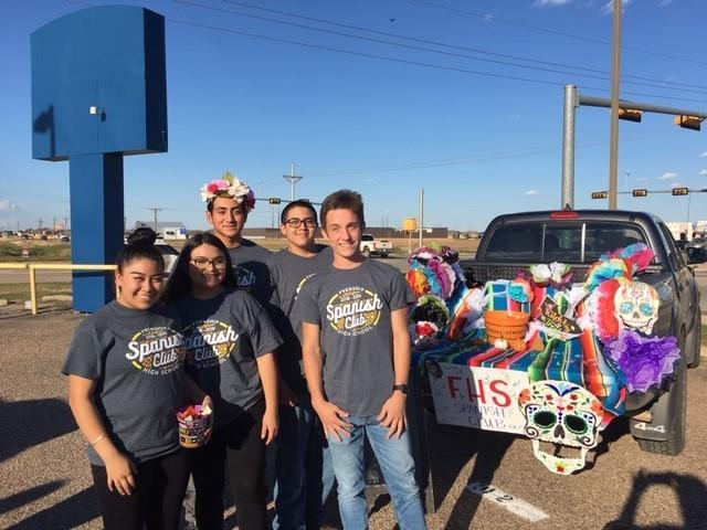Spanish Club trunk at NHS Trunk or Treat.