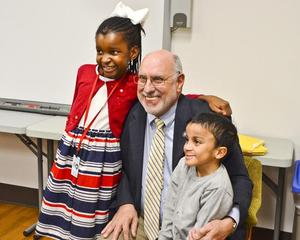 Assemblyman Benadetto with a student