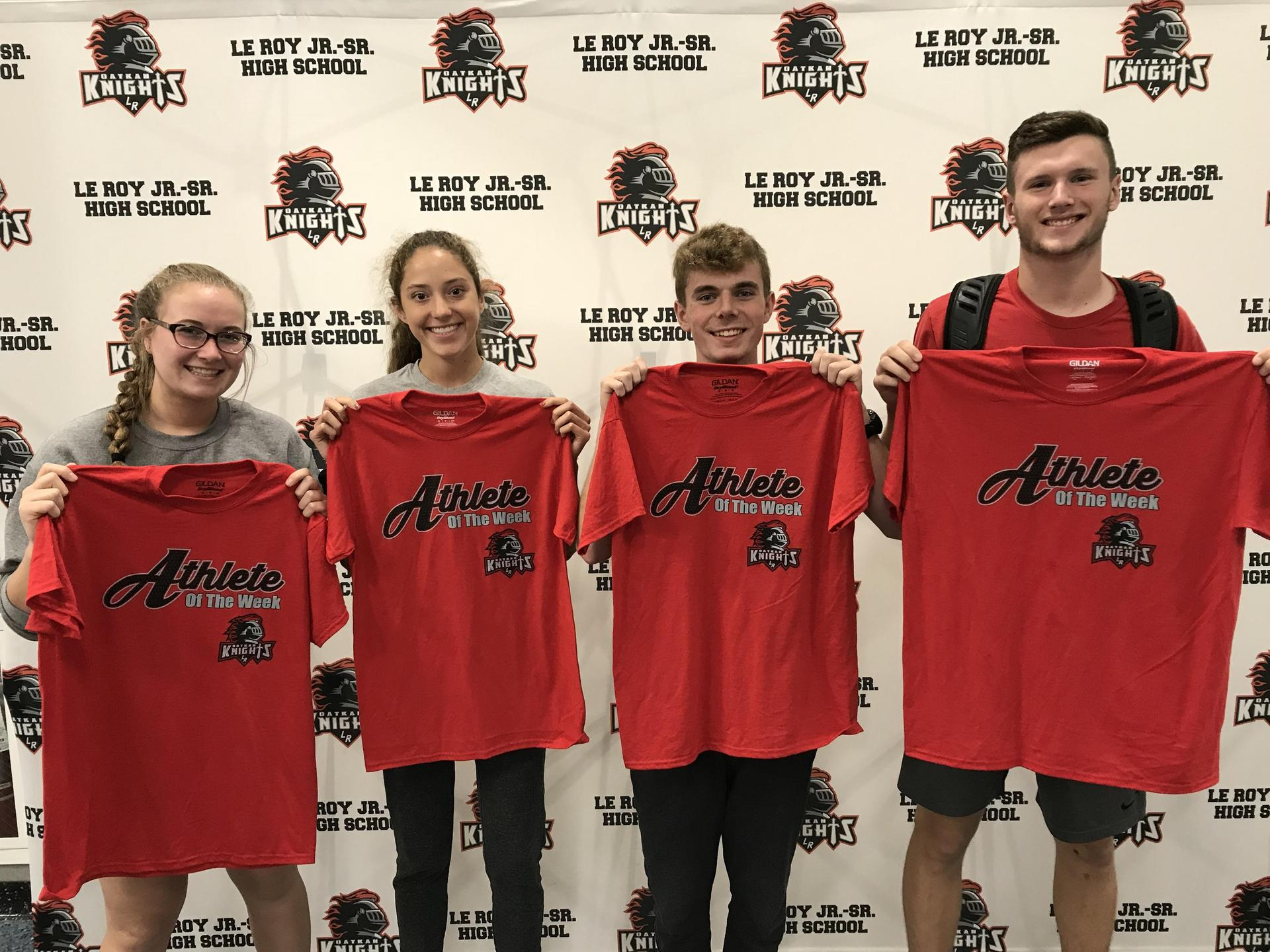 Athletes of the Week - O Johnson, C Kacur, E Pocock, R Tresco
