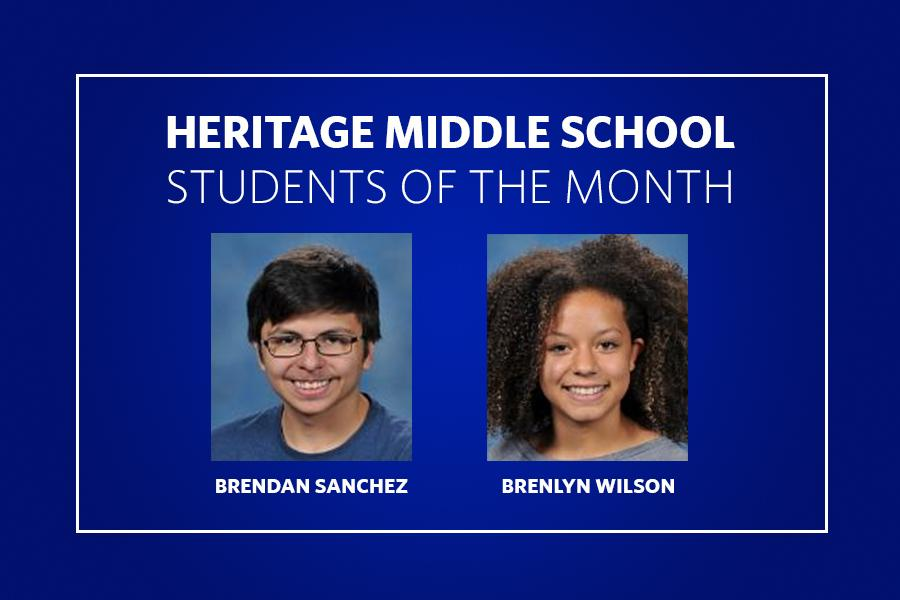 Heritage Middle Students of the Month
