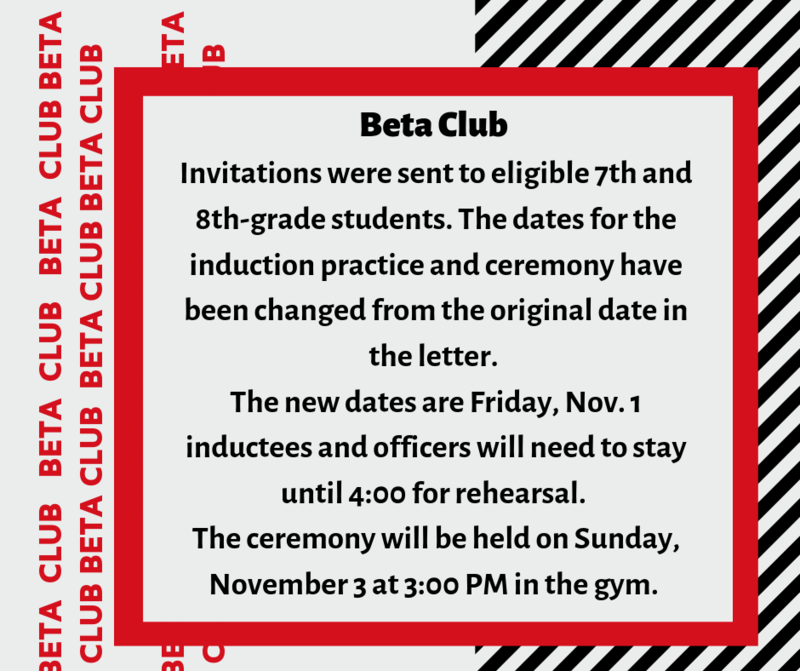 Beta Club Induction Rehearsal and Ceremony Featured Photo